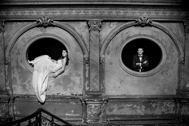 fotografia ślubna - Pałac w Krowiarkach