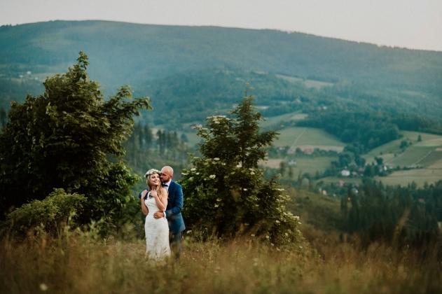 fotografia ślubna - Zdjęcia plenerowe w Wiśle, górskie zdjęcia