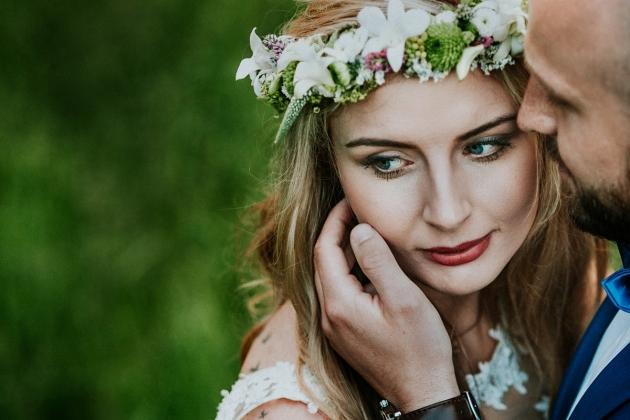fotografia ślubna - Portret panny młodej