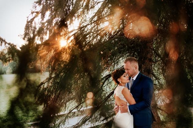 fotografia ślubna - Plener w promieniach słońca