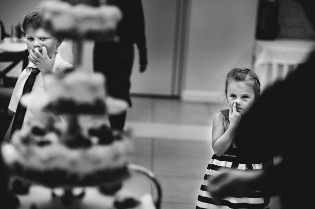 fotografia ślubna - Przyjęcie weselne tort