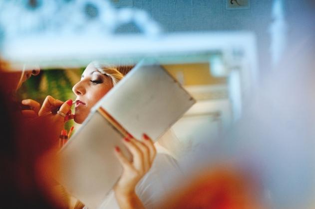 fotografia ślubna - Przygotownia, lustro, Rybnik