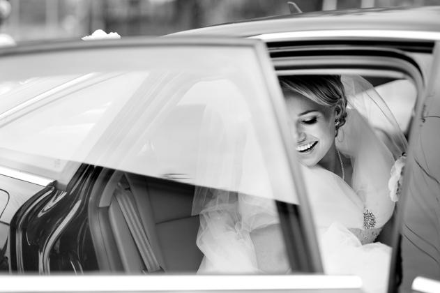 fotografia ślubna - samochód ślubny