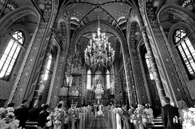 fotografia ślubna - Kościół w Gliwicach